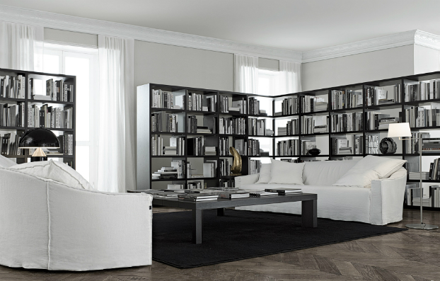 contemporary wall unit-library poliform12