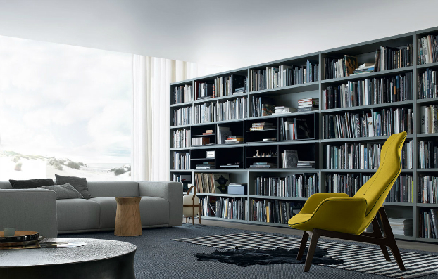 contemporary wall unit-library poliform4