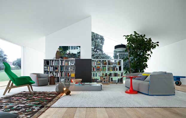 contemporary wall unit-library poliform5