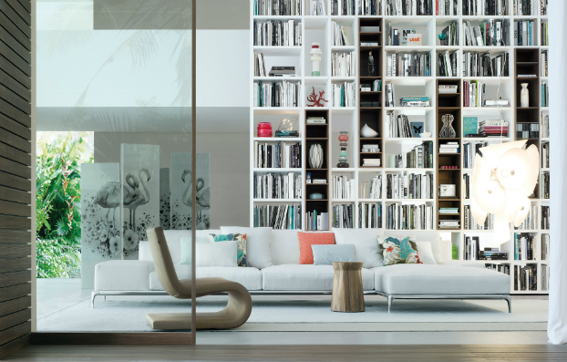 contemporary wall unit-library poliform6