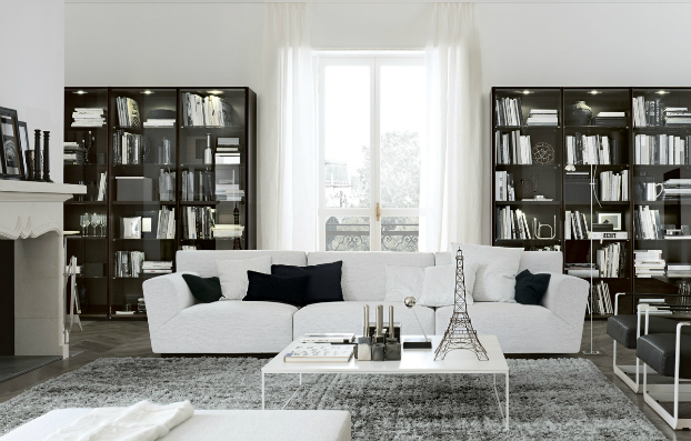 contemporary wall unit-library poliform7