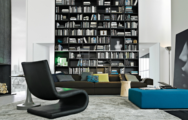contemporary wall unit-library poliform8