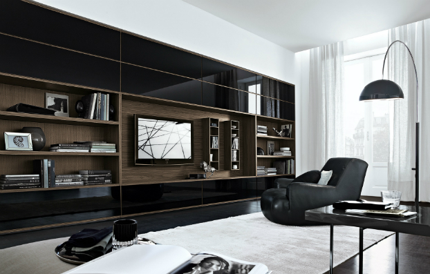 contemporary wall unit-library poliform9