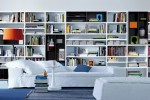 contemporary wall unit-library poliform