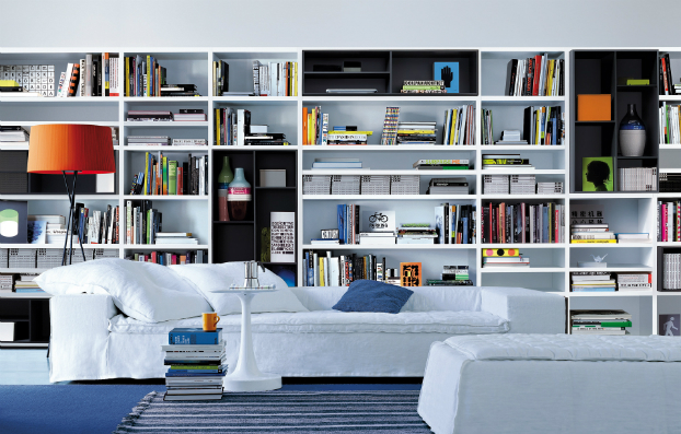 Contemporary Wall Unit Library Poliform