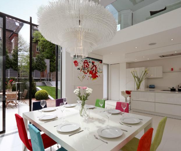 Modern White Interior With Colour Touche11