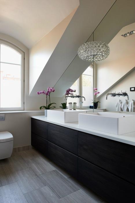 attic contemporary bathroom