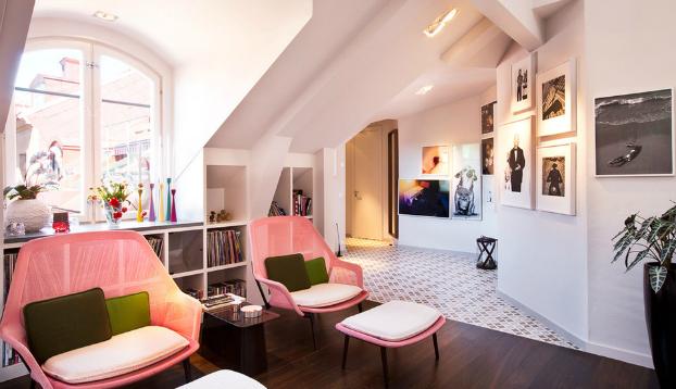 modern attic interior design