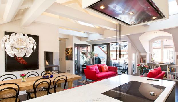 beautiful attic interior design idea