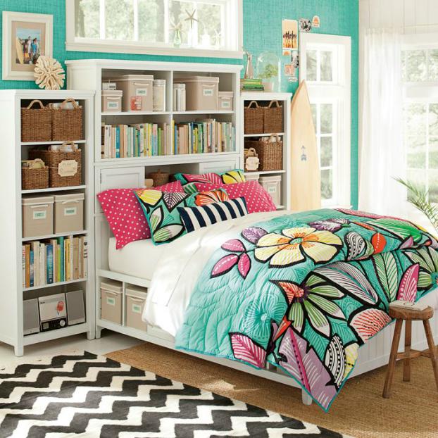 Τurquoise Teenage Girls Bedding Idea