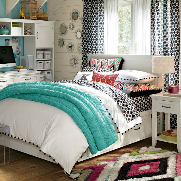 Cool teen bedding for girls reanimators for Bedroom quilt ideas