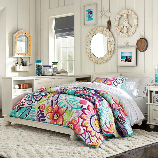 24 teenage girls bedding ideas decoholic. Black Bedroom Furniture Sets. Home Design Ideas