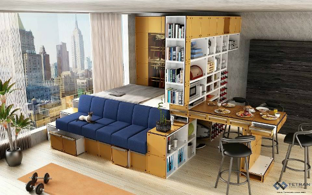 Small Studio Furniture big design ideas for small studio apartments
