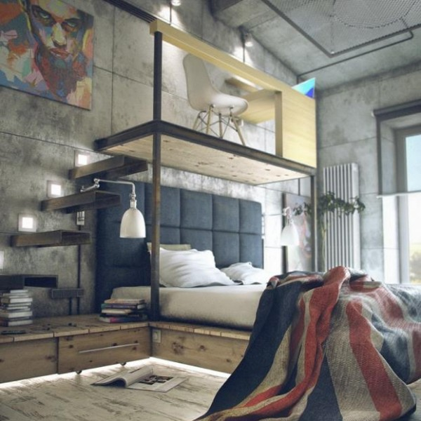 industrial small studio apartment ideas : studio-style-apartment-designs - designwebi.com