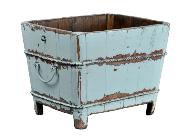 boho chic Antique Revival Wooden Square Sink