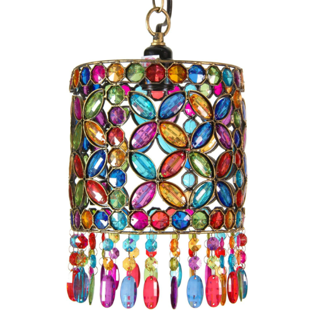 Boho Chic Overhead Light Fixture Or Lantern Style Hanging Lamp