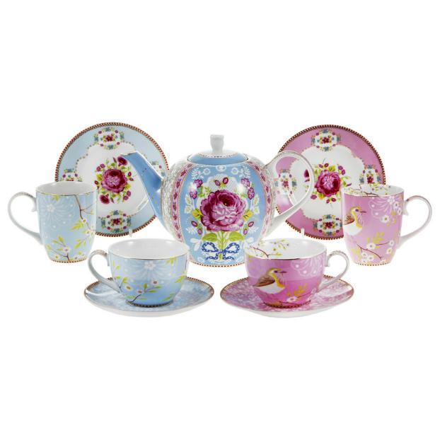 boho shabby schic Early Bird Tea Set