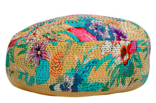 Bohemian Decorative Ottoman - Foot Stool-Indian Comfortable Floor Cushion