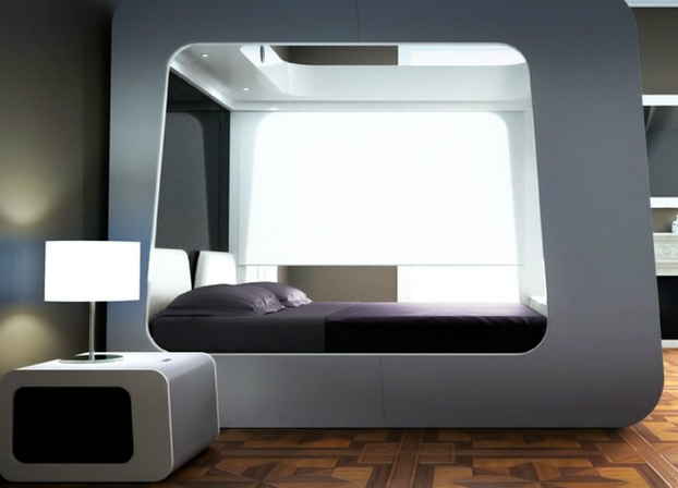 26 futuristic bedroom designs decoholic. Black Bedroom Furniture Sets. Home Design Ideas