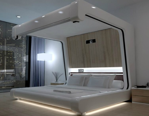 26 futuristic bedroom designs decoholic for Bed design photos
