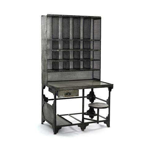 Vintage Metal Industrial Desk