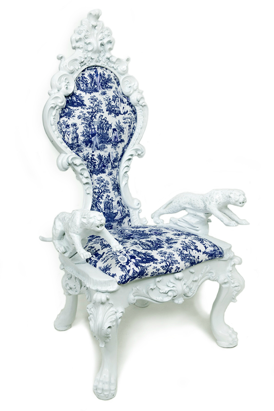 Vintage Furniture Dressed With Unexpected Patterns king chair