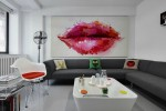 kissable wall mural