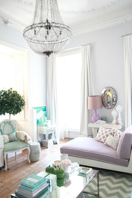 Pastel French Small Living Room