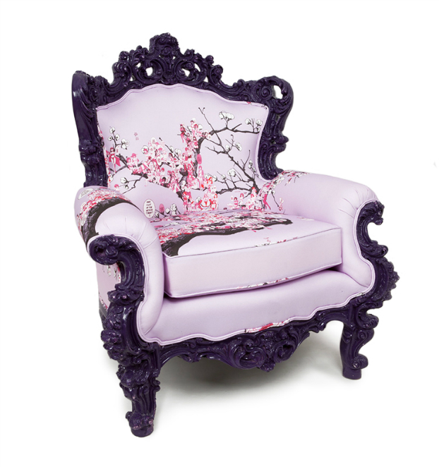 Vintage Furniture Dressed With Unexpected Patterns princess chair