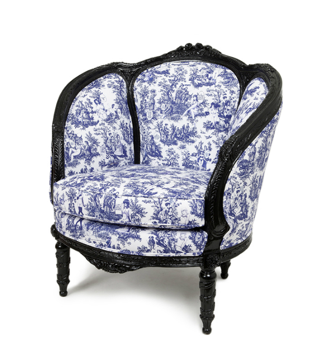 Vintage Furniture Dressed With Unexpected Patterns queen chair