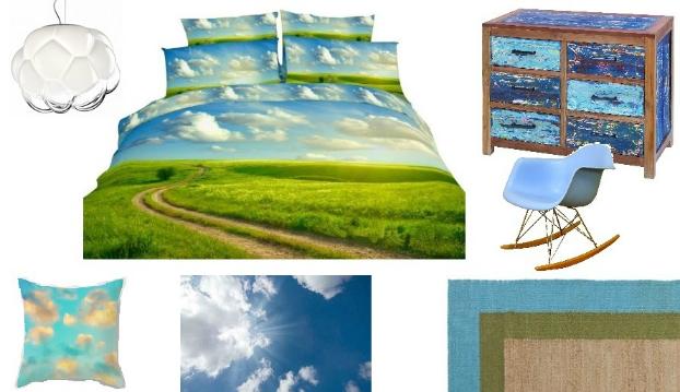 sky themed bedroom decorating ideas