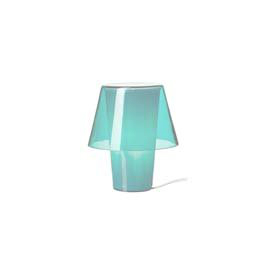 IKEA - GAVIK Table lamp, blue, frosted glass.