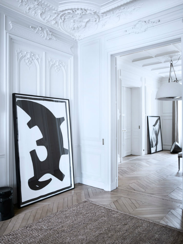 Historic Parisian Apartment with Contemporary Art 10