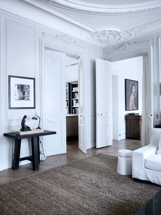Historic Parisian Apartment with Contemporary Art 12
