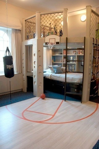 basketball themed boys room decorating ideas