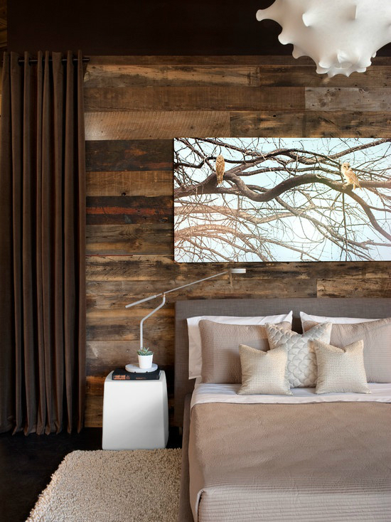 bedroom rustic modern accent wall - Accent Wall Design Ideas