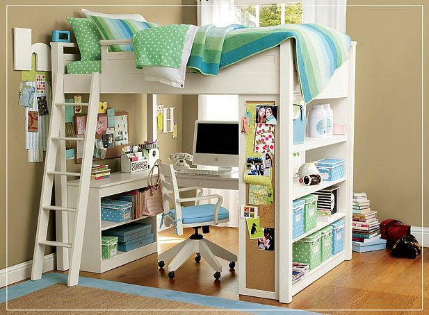 ways to decorate a loft bed 2