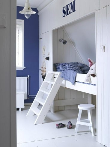 boys room with built in bed decorating ideas