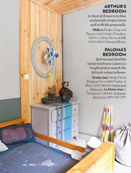 boys room decorated with salvaged finds