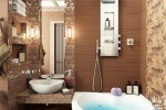 brown small bathroom design idea