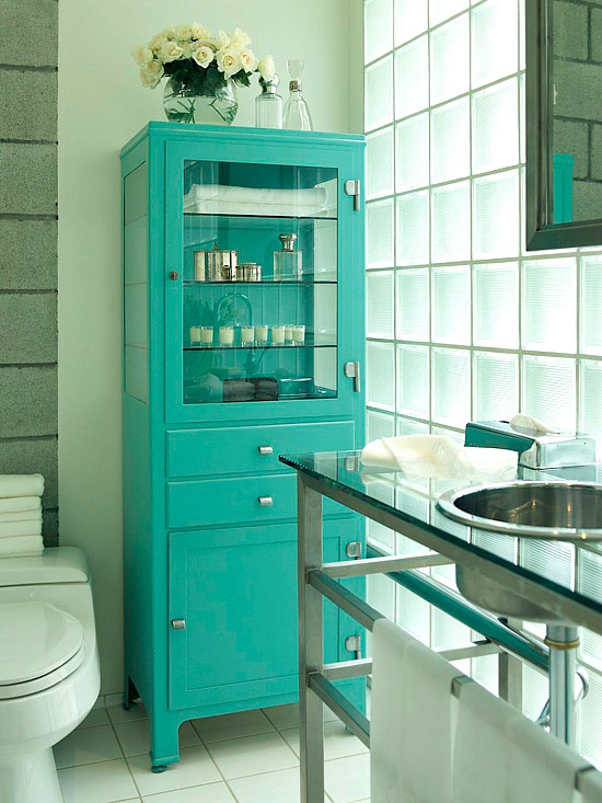 cabinet in small bathroom design idea