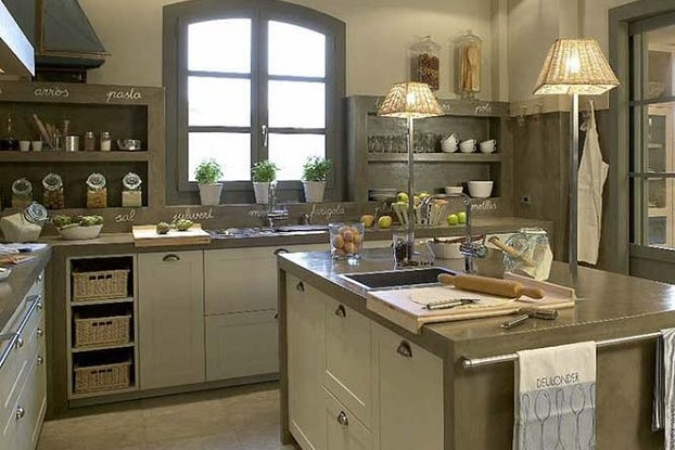 concrete modern country kitchen design