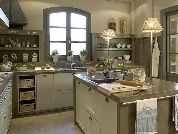 concrete modern country kitchen design