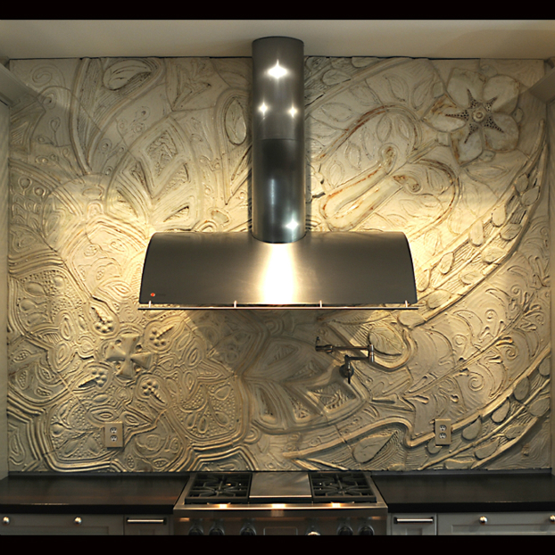 custom made Kitchen Backsplash Idea