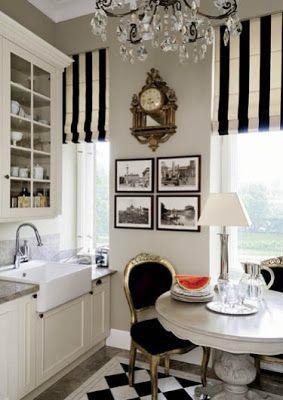 elegant black white kitchen design