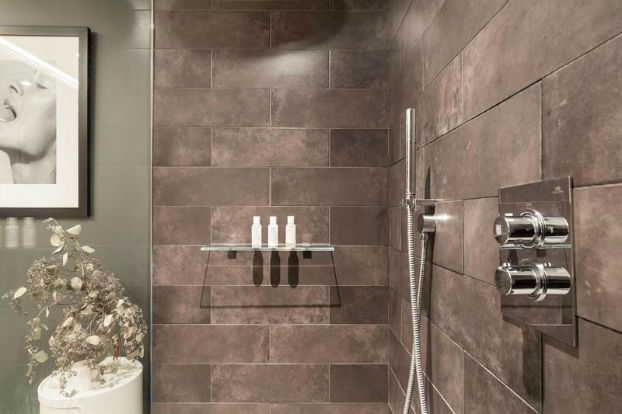 gray contemporary shower