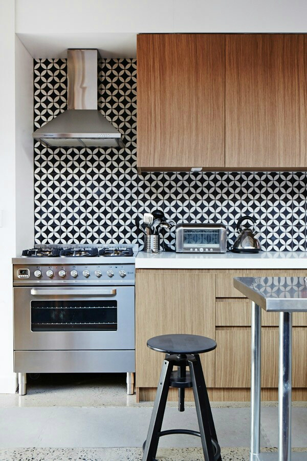 geometric Kitchen Backsplash Idea