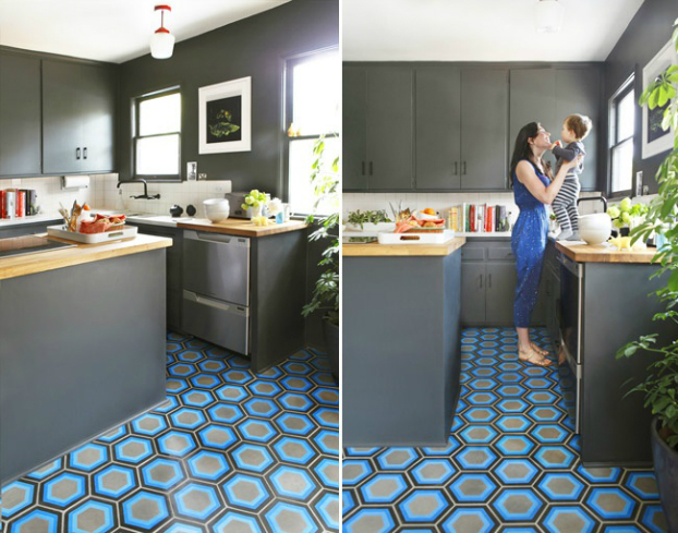 Kitchen with modern Moroccan tile from Kismet Tile