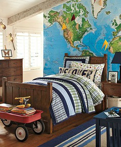 map boys room decorating ideas