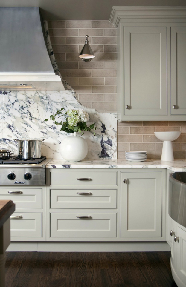 marble Kitchen Backsplash Idea